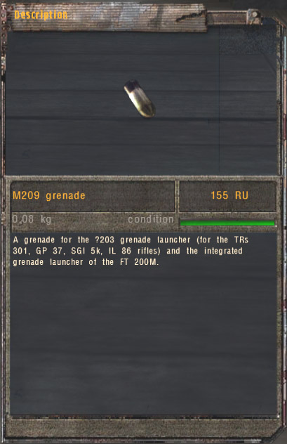 M209 Grenade (Click image or link to go back)