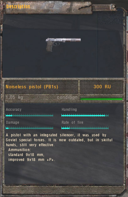 Noiseless Pistol (PB1s) (Click image or link to go back)