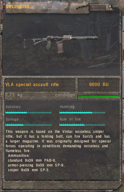 VLA Special Assault Rifle (Click image or link to go back)